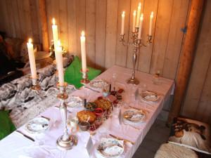 Lanselaar catering Bussum, gedekte tafel